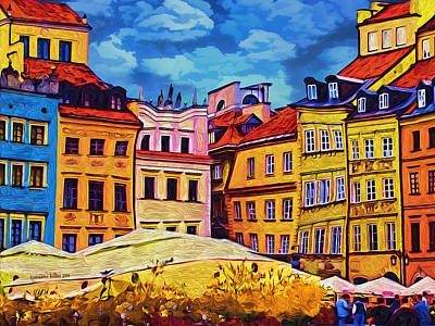 Old Town In Warsaw #1 Art Print by Aleksander Rotner