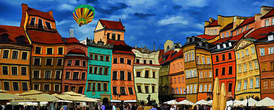 Photograph - Old Town In Warsaw #10a by Aleksander Rotner
