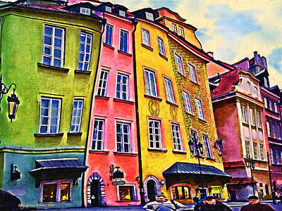 Old Town In Warsaw #4 Art Print