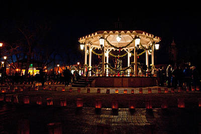 Luminaria Photograph - Old Town Luminarias And Bandstand by Don Durante Jr