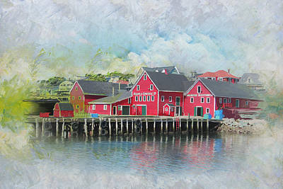 Old Town Lunenberg Art Print by Catf