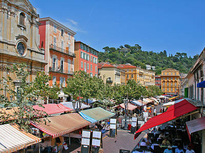 Old Town Market In Nice Art Print