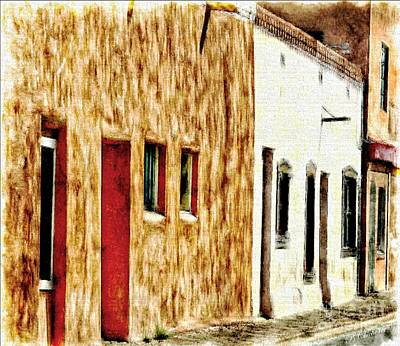 Las Cruces Painting - Old Town New Mexico by Barbara Chichester