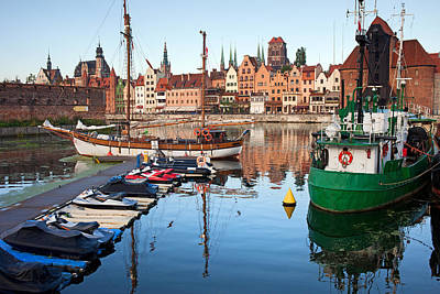 Danzig Photograph - Old Town Of Gdansk Skyline And Marina by Artur Bogacki