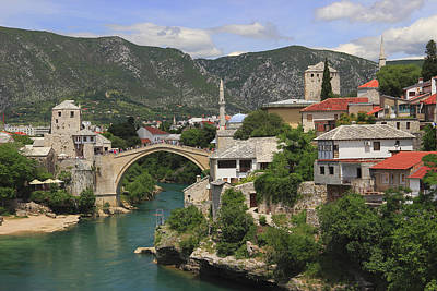 Mostar Photograph - Old Town Of Mostar Bosnia And Herzegovina by Ivan Pendjakov