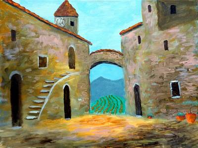Painting - Old Town Of Tuscany by Larry Cirigliano
