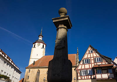 Church Photograph - Old Town Of Waldenbuch Germany by Matthias Hauser