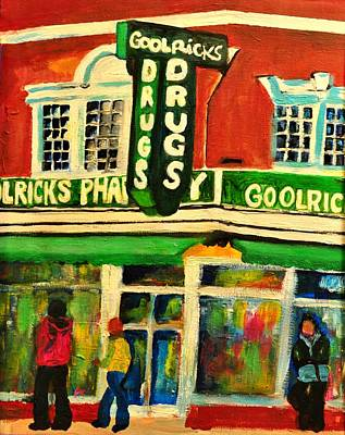 Drug Stores Painting - Old Town Pharmacy by Jill Jacobs