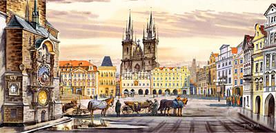 Old Town Square Art Print by Dmitry Koptevskiy