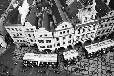 Photograph - Old Town Square In Prague In Black And White by Matthias Hauser