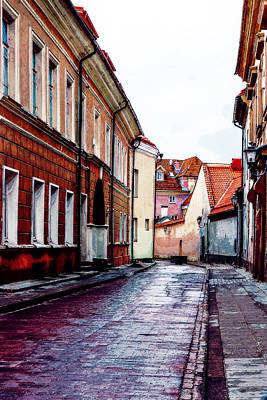 Granger - Old Town Street After Rain 1 by Yevgeni Kacnelson