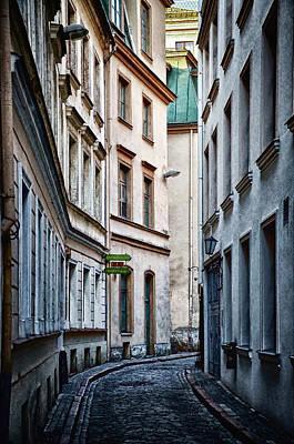 French Street Scene Digital Art - Old Town Street by Gynt