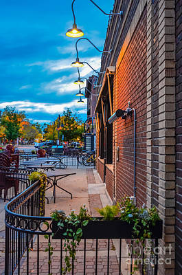 Fort Collins Photograph - Old Town Sunset by Baywest Imaging
