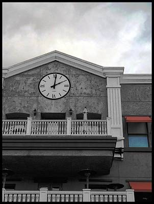 Old Town Temecula - The Clock Art Print by Glenn McCarthy