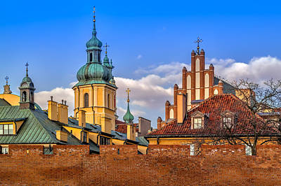 Photograph - Old Town View by Tomasz Dziubinski