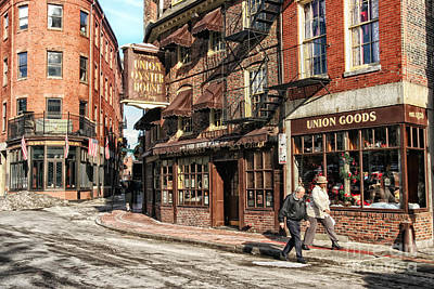 Photograph - Old Towne Boston by Mary Lou Chmura