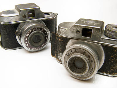 Old Toy Cameras Art Print by Amy Cicconi