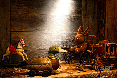 Old Toys In The Attic Art Print