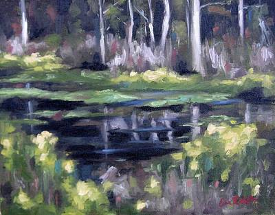 Painting - Old Trace Pond by Erin Rickelton