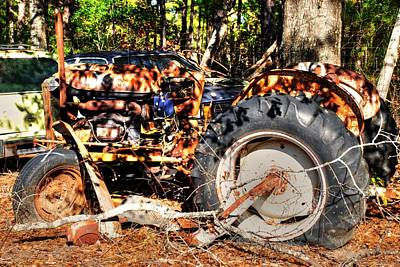 Old Tractor 01 Art Print
