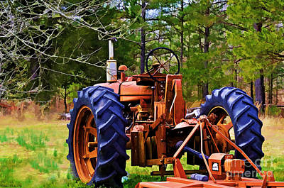 Photograph - Old Tractor Digital Paint by Debbie Portwood