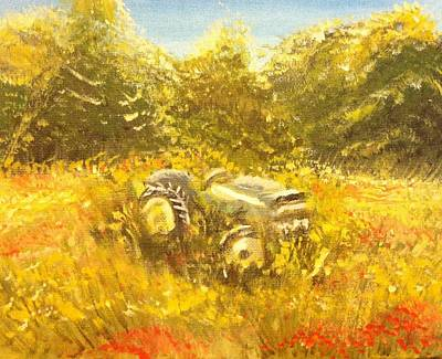 Painting - Old Tractor by Hollie Ward