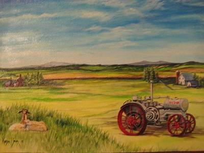 Painting - Old Tractor by Kendra Sorum