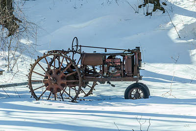 Old Tractor Art Print by Rhys Templar