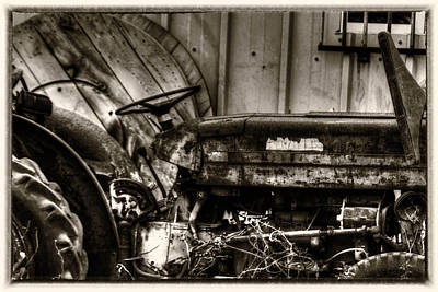 Financial Mixed Media - Old Tractor - Series Xv by Doc Braham