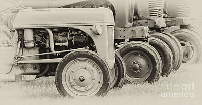 Photograph - Old Tractors by Wilma  Birdwell