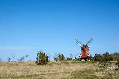 Photograph - Old Traditional Windmill In Open Landscape by Kennerth and Birgitta Kullman