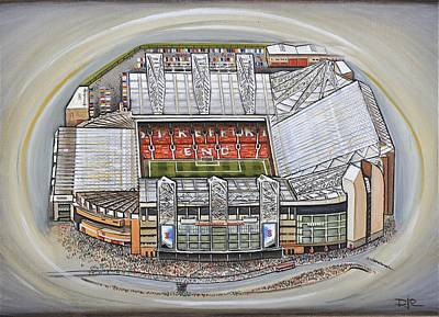 Acrylic Image Painting - Old Trafford - Manchester United by D J Rogers