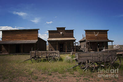 Old Cabins Photograph - Old Trail Town by Juli Scalzi