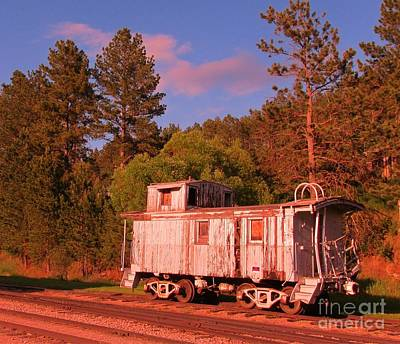 Old Caboose Photograph - Old Train Caboose by John Malone