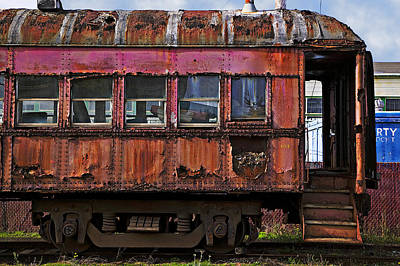Rusted Cars Photograph - Old Train Car by Garry Gay