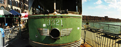 Old Train Car On Display, Red Hook Art Print