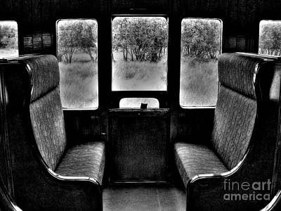 Photograph - Old Train Compartment by Nina Ficur Feenan