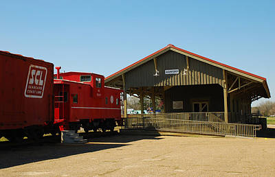 Old Train Depot 06 Art Print by Andy Savelle
