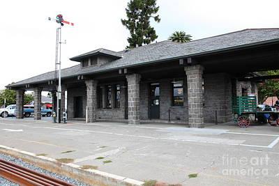 Old Train Depot At Historic Railroad Square Santa Rosa California 5d25869 Art Print by Wingsdomain Art and Photography