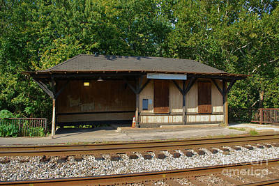 Photograph - Old Train Depot At Harpers Ferry by Bob Sample