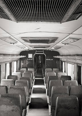 Photograph - Old Train Seats by For Ninety One Days