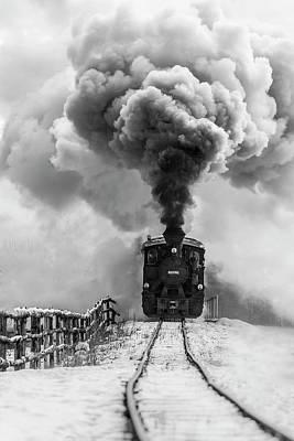 Steam Engines Wall Art - Photograph - Old Train by Sveduneac Dorin Lucian