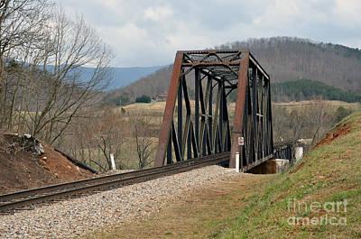 Natural Bridge Station Photograph - Old Train Trestle by Brenda Dorman