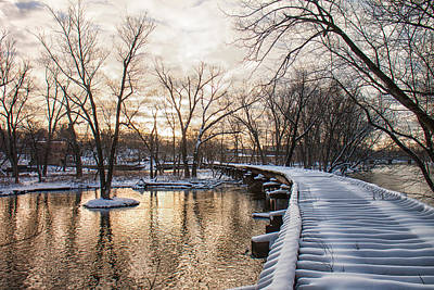Fox River Photograph - Old Train Trestle by Lauri Novak