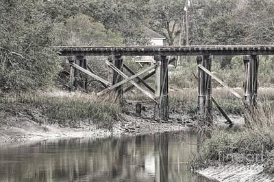 Photograph - Old Train Trestle by Scott Hansen