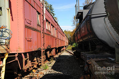 Photograph - Old Train Wagons At Ease by Malu Couttolenc