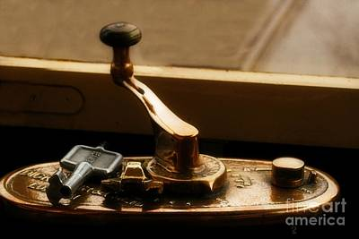 Photograph - Old Tram Steering Handle by Doc Braham