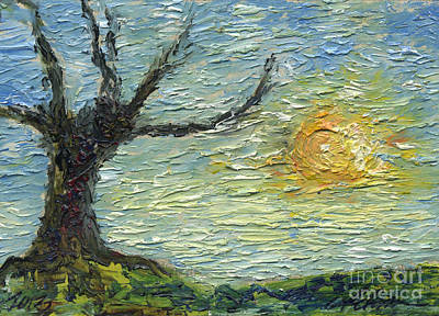 Old Tree And The Lazy Sun Original by Cathy Peterson