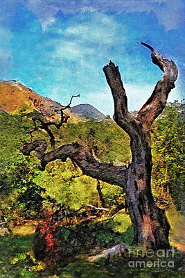 Painting - Old Tree Landscape by Danuta Bennett