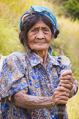 Igorot Photograph - Old Tribal Woman  by Tuimages